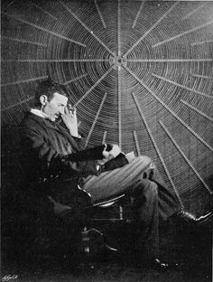"""Nikola Tesla - true genius, winner of """"the war of the currents"""", inventor extraordinaire. AC current, induction motors, radio broadcasting... Our world would be a less electrified, less communicative and much less informed if it were not for this eccentric life-long bachelor."""