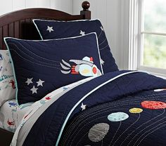 Eric Space Quilted Bedding | Pottery Barn Kids