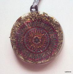 Energetic jewelry, orgone pendant.