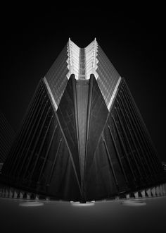 "Title ""Alien"" Santiago Calatrava Architecture Black and White Long Exposure Photography Valencia Spain February 2017 Valencia Spain, Santiago Calatrava, Exposure Photography, Opera House, Black And White, Blanco Y Negro, Black White, Black N White, Opera"