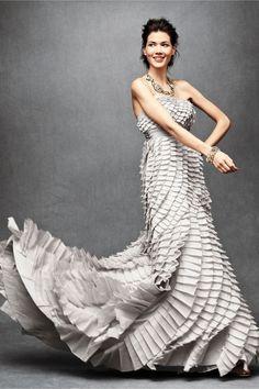 BHLDN Pleated Dress. Anthropologie's Bridal Line.