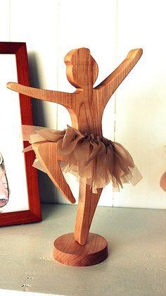 ballerina wooden toy by AtelierSaintCerf