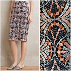 NWT Anthropologie Svetla Lace Pencil Skirt Gorgeous skirt that seriously works all occasions! It has a middle slit in the back and a hidden zipper. Approximately 25 inches in length. Anthropologie Skirts Pencil