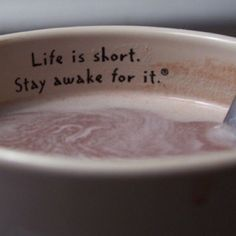 """Life is short. Stay awake for it."" Thank goodness for coffee! #Coffee #Quote #MrCoffee"