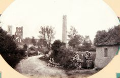 A view of the round tower and abbey, Kildare town in 1861 (Royal Collection Trust/© Her Majesty Queen Elizabeth II Irish Images, Old Images, Old Photos, Vintage Photos, Royal Collection Trust, Round Tower, Archaeological Site, Elizabeth Ii, British Royals