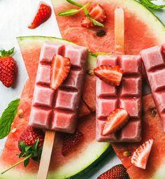 Domowe lody truskawkowo-arbuzowe