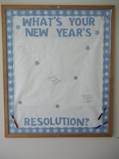 What's Your New Year's Resolution? Bulletin board