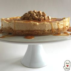 New Zealand and Australia is currently in the grips of a Caramilk Frenzy! So I thought I would join in - oh boy you will love this Caramilk Cheesecake! I am delighted to share with Yummy Treats, Delicious Desserts, Sweet Treats, Awesome Desserts, Cold Desserts, Beautiful Desserts, Cheesecake Recipes, Dessert Recipes, Mango Cheesecake