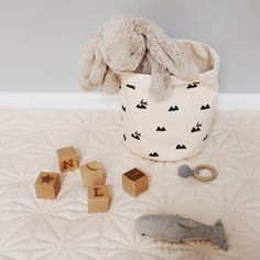 ferm LIVING Rose rabbit small basket in 100% organic cotton: http://www.fermliving.com/webshop/search/organic-products/rose-rabbit-basket-small.aspx