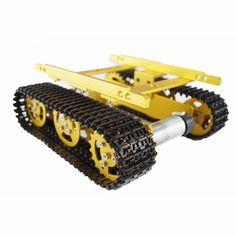DIY Aluminum Alloy Tank Caterpillar Chassis Smart Robot Kit For Arduino Arduino Cnc, Arduino Mega, Robot Kits, Diy Robot, Smart Robot, Smart Auto, Smart Car, E Book Reader, Toy Tanks