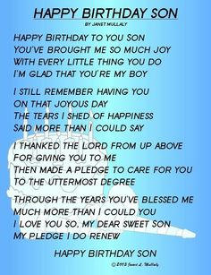 happy birthday son i love you with all my heart and soul and i