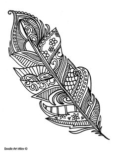 Image result for zentangle feather