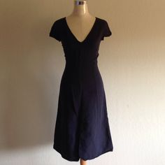 Dark blue Dress Dark Blue Armani dress. Size: 2. Used a lot priced  accordingly Armani Exchange Dresses High Low