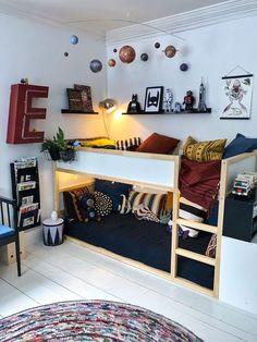 Boy Toddler Bedroom, Girl Room, Home Bedroom, Kids Bedroom, Chambre Nolan, Kids Room Design, Baby Room Decor, Room Inspiration, Kura Bed Hack