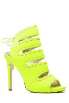 Buy Neon Lime Lights Tie Up Peep Toe Heels with cheap price and high quality from Cicihot Heel Shoes online store which also sales Stiletto Heel Shoes,High Heel Pumps,Womens High Heel Shoes,Prom Shoes Neon High Heels, Neon Pumps, Red High Heel Shoes, Peep Toe Shoes, Pumps Heels, Stiletto Heels, Tie Shoes, Suede Pumps, Lime Green Heels