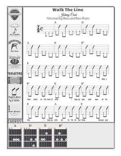 Nicely formatted Guitar Capo Chart easy to print for