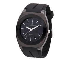 #Reloj con caja de aleación metálica y correa de poliuretano. - #CristianLay #black #negro ¡Consíguelo por menos de 20 €! Controla tu #tiempo