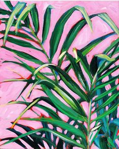 Summer Leaves — Sari Not Sorry Art from Sari Shryack Plant Painting, Plant Art, Neon Painting, Painting Inspiration, Art Inspo, Guache, Paintings I Love, Leaf Art, Botanical Art