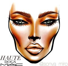Haute Dogs MAC Collection Face Chart More
