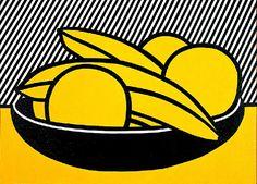 """""""Les bananes et pamplemousses (1972)"""", huile de Roy Lichtenstein (1923-1997…"""