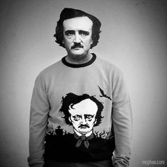 Edgar Allan Poe Sweater!   http://mcphee.com/shop/edgar-allan-poe-sweater.html