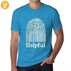 Helpful Fingerprint, tshirt herren, tshirt mit worten, geschenke tshirt - Shirts mit spruch (*Partner-Link)