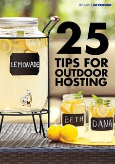 If you love entertaining outdoors, a drink dispenser is a must-have addition to your next party. It's the perfect way to serve refreshing summer drinks, like freshly squeezed lemonade or homemade sangria, and it makes it easy for guests to help themselves throughout the evening.