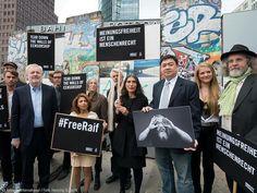 Ensaf Haidar during an event for the 'Ambassador of Conscience Award' at Potsdamer Platz in Berlin #RaifBadawi