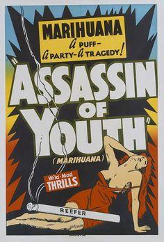 Photos: Anti-marijuana propaganda -- a vintage guide to reefer madness Cannabis, Medical Marijuana, Retro Poster, Poster Vintage, Vintage Advertisements, Vintage Ads, Vintage Newspaper, Vintage Humor, Poster