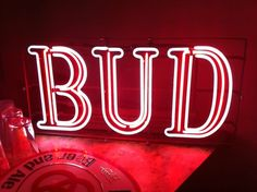 Vintage Blinking Budweiser Neon Beer Sign   eBay