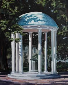 This original painting of the UNC Old Well by Miles Morin is available to buy - the best graduation gift a tarheel can get. Chapel Hill North Carolina, University Of North Carolina, Dream It Do It, Best Graduation Gifts, Unc Chapel Hill, Bedroom Wall Collage, Dream School, Unc Tarheels, Graduation Pictures
