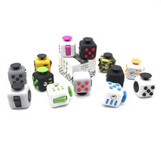 1pcs Fidget Cube Original Puzzles & Magic Cubes Toys Size about 3.3cm*3.3cm*3.3cm fidget cube with Paper Retail Box