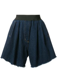 Natasha Zinko Wide Denim Shorts - Farfetch