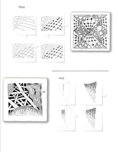 Zentangle Pattern Gallery | Printable zentangles - InfoCap Ltd.