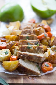 ONE PAN ROASTED PORK TENDERLOIN WITH APPLES, SAGE AND ROOT VEGETABLES...AND A $250 AMAZON GIFT CARD GIVEAWAY!