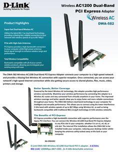 wireless AC1200 Dual-Band PCI Express Adapter