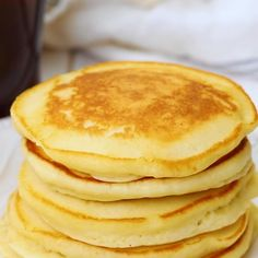 Skip store bought and make your pancakes at home, from scratch! This breakfast recipe is SO easy, delicious and family approved! Try adding chocolate chips, bananas or blueberries! Delicious Breakfast Recipes, Brunch Recipes, Sweet Recipes, Yummy Recipes, Cooking Recipes, Yummy Food, Breakfast Buffet, Morning Breakfast, Best Breakfast