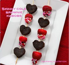low calorie valentines day treats valentines day brownie kabobs