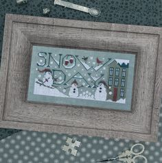 "THE DRAWN THREAD ""Snow Day"" 