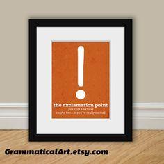Grammaire anglaise ponctuation impression par GrammaticalArt, $18.00