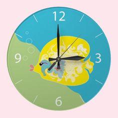 Cute Fish Round Clocks