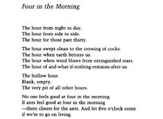 Tuesday Poem – Four in the Morning – Wislawa Szymborska Morning Poem, Nobel Prize Winners, Choose Me, Betrayal, Picture Quotes, Feel Good, Tuesday, Poems, Thoughts