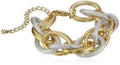 "Two Tone Textured Chain Bracelet, 7"" Amazon Curated Collection http://www.amazon.com/dp/B00H408X6W/ref=cm_sw_r_pi_dp_n-irub08Z5RCM"
