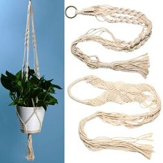 Handmade Macrame Plant Hangers / Indoor Hoop Flower Basket Pot Holder / Jute Rope For Wall Decoration with Beads and Tassels /Flower Light If you're looking for vintage, boho, traditional, or even victorian pieces of art then you've come to the right place!