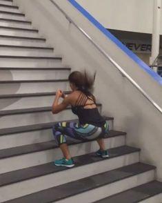 "Alexia Clark ""Stair work!"""