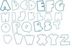 Letter Patterns | Quilt patterns, paper piecing patterns, applique quilting