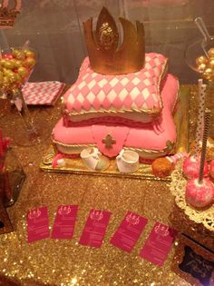 Pink and gold pink and gold princess party! See more party ideas at CatchMyParty.com!