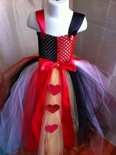 Queen of hearts princess tutu dress by LuisabellaTutus on Etsy, $40.00