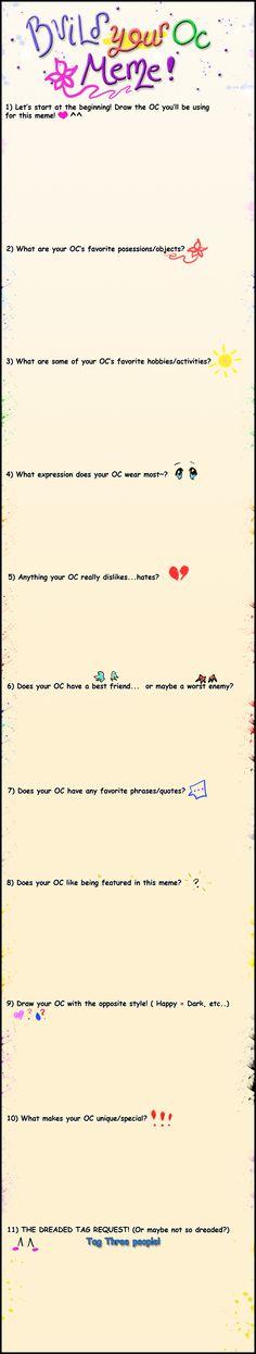 Build your OC meme by Tajii-chan.deviantart.com on @DeviantArt
