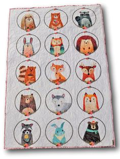 So sweet! Woodland forest animal quilt, love this!!!